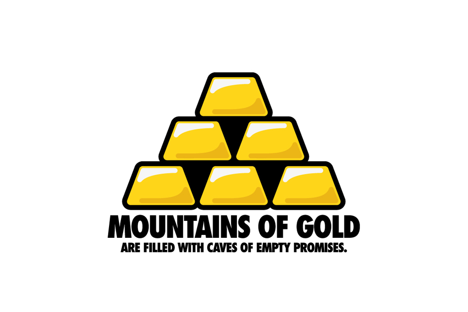 Mountains of gold